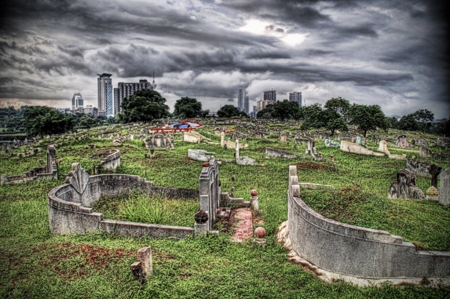 Cemetery Hill in the Storm