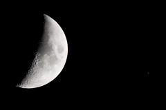 Moon and Saturn / Maan en Saturnus