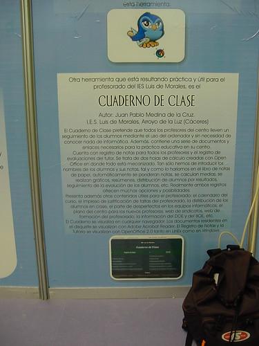 El Cuaderno de Clase en el III Salón de la Educación de Extremadura. Abril de 2007