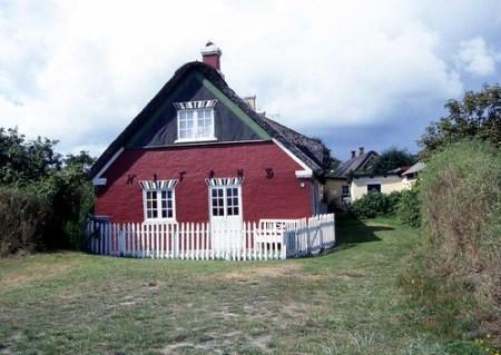 Arquitectura típica en la isla de Fanø, Dinamarca