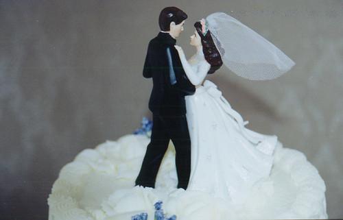 20000212 - Clint & Carolyn's Wedding Reception_Wedding-Cake_Topper by Captain CHAAAAAAAAAAAAAAOOOOOOOOOOOOOOOOOOOSSSSSSS.