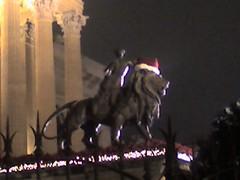 Un leone Teatro Massimo a Natale