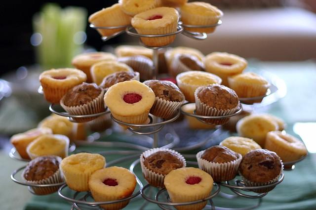 tower o'mini muffins