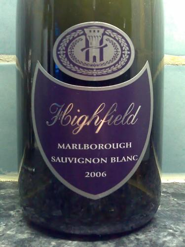 Highfield Sauvignon Blanc 2006 - Front label