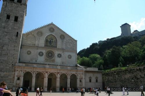 Duomo di Spoleto and Rocca Albornoziana