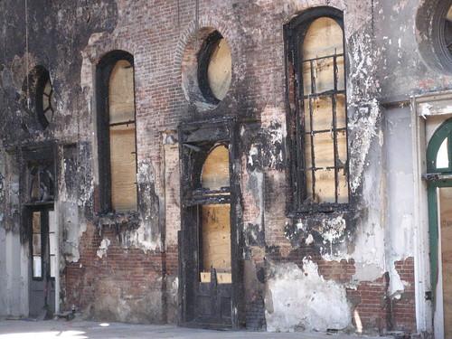 burned out Eastern market building