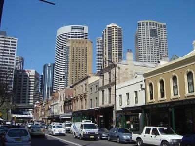 The historic Rocks area of Sydney Australia