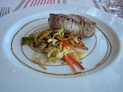 Hostal Empúries_Solomillo de ternera con verduras al wok