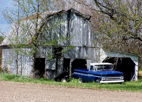 Blue Truck & Barn