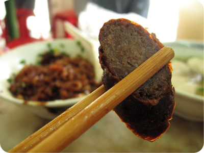 Pork noodle - Chinese sausage