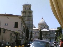 La vista dal ristorante a Pisa