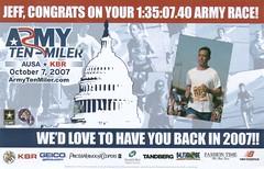 Army Ten Miler Postcard - Front