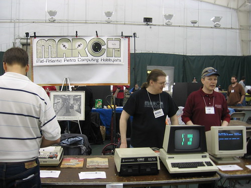 MARCH booth at Trenton Computer Festival
