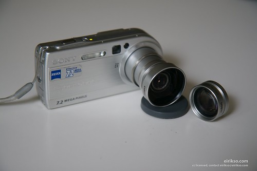 Sony with wide angle add on lens