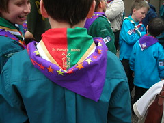 New posh St Peter's Maney kneckerchiefs