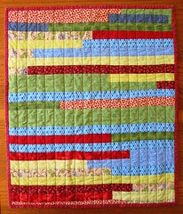 strippy doll quilt front