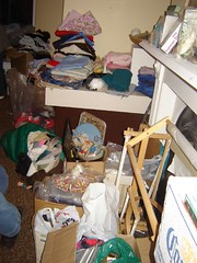 Assorted stuff, including needlepoint frames
