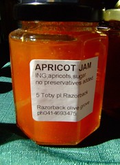 Apricot Jam from Razor Back Olive Grove at Wollongong Friday Produce Market