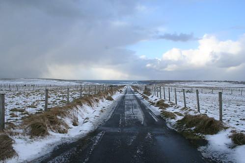 Machair Road in Snow