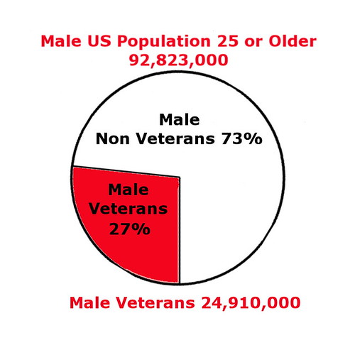 Male US Population vs Veterans