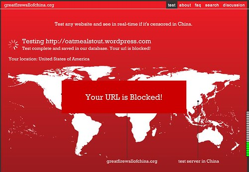 My blog is blocked in China