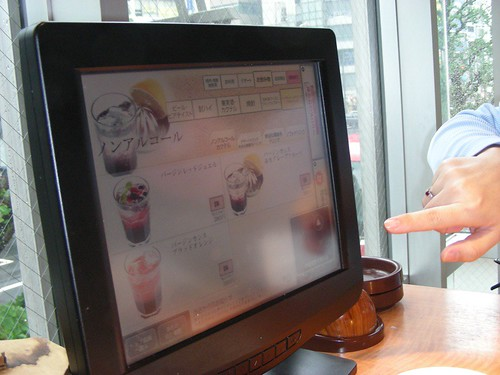 touch screen in restaurant
