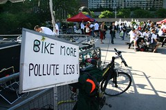 BIKE MORE POLLUTE LESS!