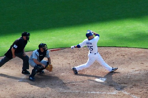 Russell Martin crushing a homer to dead center (Malingering/flickr)