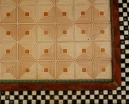 普普風的瓷磚拼布