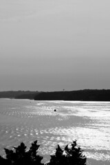 black and white ozarks lake