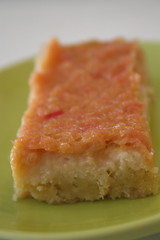 Rhubarb Bars with Pine Nut Crust