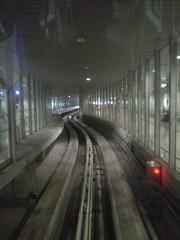 21.前往入境大廳電車的軌道