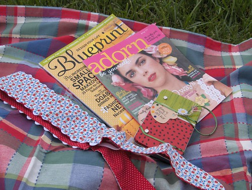 magazines, headband and art kit