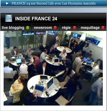 WebCam France 24 : blogueurs et équipe de l'Ile Verte