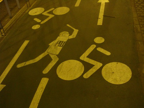 cycling stickman in peril