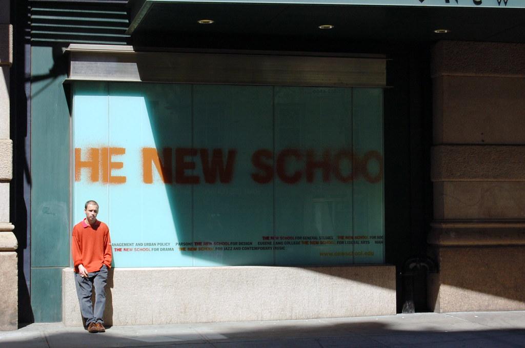 Smoking man and new school