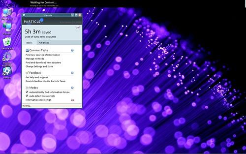 Particls on my desktop