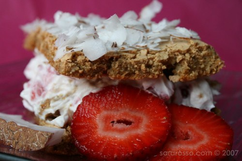 Strawberry Semifreddo Close-up