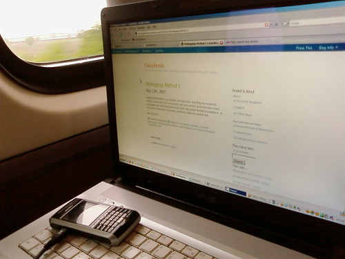 Train Moblogging