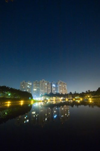 Night-shot of Chu Lake, NCTU, Taiwan