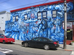 Mural at York and 24th, Mission District San F...