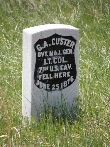 Custer's Grave at Little Bighorn by jimbowen0306.
