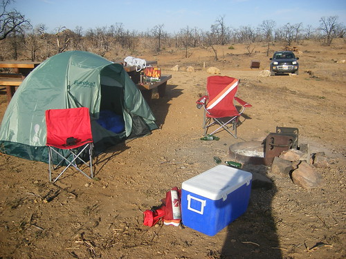 Our Camsite on the Barren Grounds of Midhill, in the Mojave National Preserve near Cima, CA