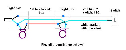 simple three way switch diagram coleman gas furnace wiring ohw • view topic - electrical: loop with two light fixtures