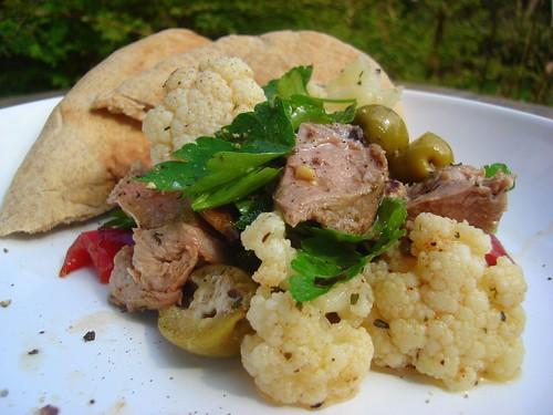Lamb and Cauliflower Salad