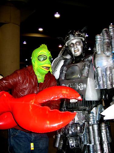 Mutant Lobster Fights Robot