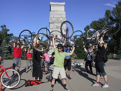 Critical Mass: Celebratory Bike Lift