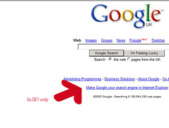Google in IE7