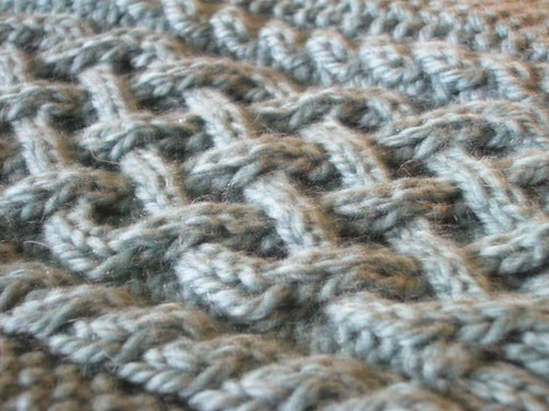 Dan's Aran: Left front in progress.