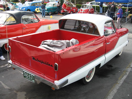 Nash Metropolitan pickup truck (rear) by scottryder.